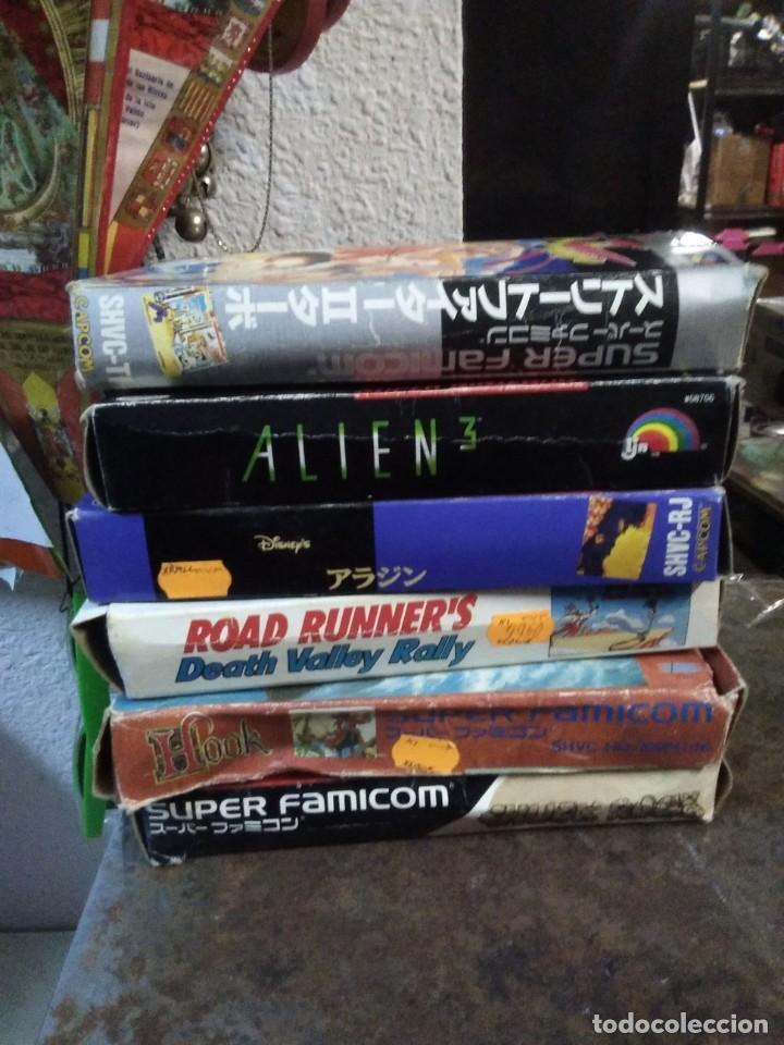Videojuegos y Consolas: Lote 6 Juegos SUPER NINTENDO de Famicom y otros en su caja (Street fighter, Aladin, alien y otros) - Foto 14 - 200370401