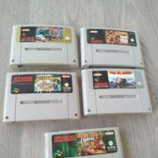 Videojuegos y Consolas: 5 JUEGOS DE SUPER NINTENDO. Lote 200751925