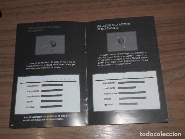 Videojuegos y Consolas: TURTLES IV TURTLES IN TIME Manual de Instrucciones Original SUPER NINTENDO Pal España CASTELLANO - Foto 3 - 201619966