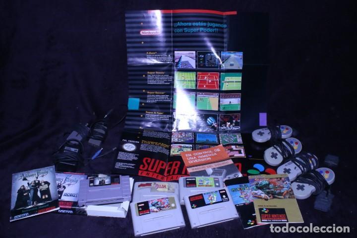 LOTE SNES NINTENDO VIDEOCONSOLAS AÑOS 90 RETRO VINTAGE (Juguetes - Videojuegos y Consolas - Nintendo - SuperNintendo)