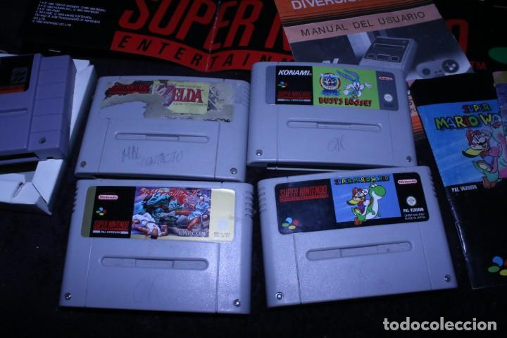 Videojuegos y Consolas: Lote SNES nintendo videoconsolas años 90 retro vintage - Foto 2 - 203370697