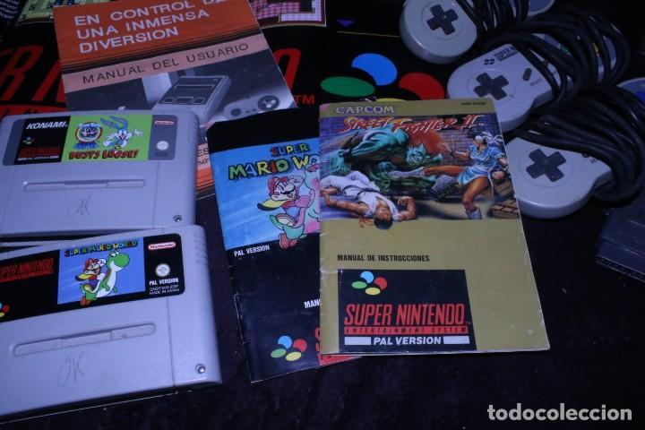 Videojuegos y Consolas: Lote SNES nintendo videoconsolas años 90 retro vintage - Foto 3 - 203370697