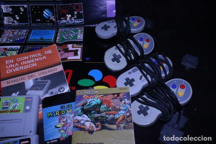 Videojuegos y Consolas: Lote SNES nintendo videoconsolas años 90 retro vintage - Foto 4 - 203370697