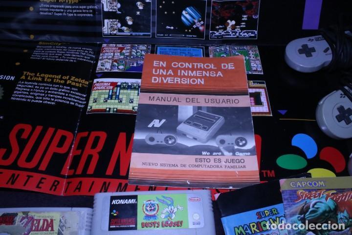 Videojuegos y Consolas: Lote SNES nintendo videoconsolas años 90 retro vintage - Foto 6 - 203370697