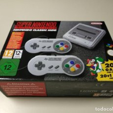 Videojuegos y Consolas: 0520- CONSOLA SUPER NINTENDO CLASSIC MINI 20 + 1 GAME CLVS SNPH EUR NUEVO Nº4. Lote 203797385