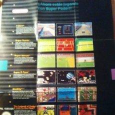 Videojuegos y Consolas: POSTER JUEGOS SUPER NINTENDO. Lote 203906202