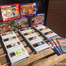 Videojogos e Consolas: LOTE 11 JUEGOS SÚPER NINTENDO. SUPERNINTENDO. ZELDA, DONKEY, STREET FIGHTER, MARIO BROSS, ALADIN.. Lote 204442132