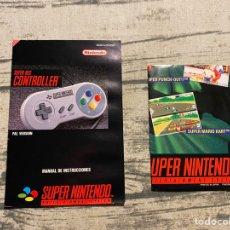 Videojuegos y Consolas: MANUAL MANDO SNES Y POSTER. Lote 205326402