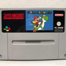 Videojuegos y Consolas: SUPER MARIO WORLD SUPER NINTENDO SNES. Lote 205758296