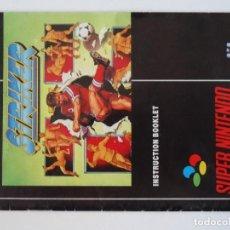 Videojuegos y Consolas: NINTENDO SNES MANUAL STRIKER ORIGINAL SUPER NINTENDO. Lote 206164655