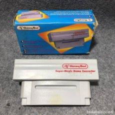 Videojuegos y Consolas: HONEY BEE SUPER MAGIC GAME CONVERTER CON CAJA SUPER NINTENDO SNES. Lote 206293256