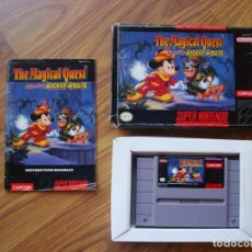 Videojuegos y Consolas: THE MAGICAL QUEST STARRING MICKEY MOUSE (SUPER NINTENDO) SNES SUPERNINTENDO. Lote 206343710