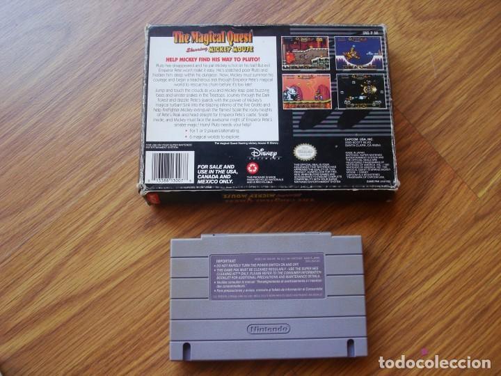Videojuegos y Consolas: The Magical Quest Starring Mickey Mouse (Super Nintendo) Snes SuperNintendo - Foto 2 - 206343710