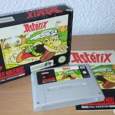 Videojogos e Consolas: ASTERIX SUPER NINTENDO CAJA CARTUCHO Y MANUAL ESP SNES. Lote 206766123