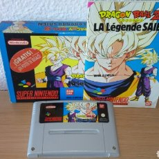 Videojogos e Consolas: DRAGON BALL Z SNES LA LEGENDE DE SAIEN CAJA MANUAL Y CARTUCHO. Lote 206772340