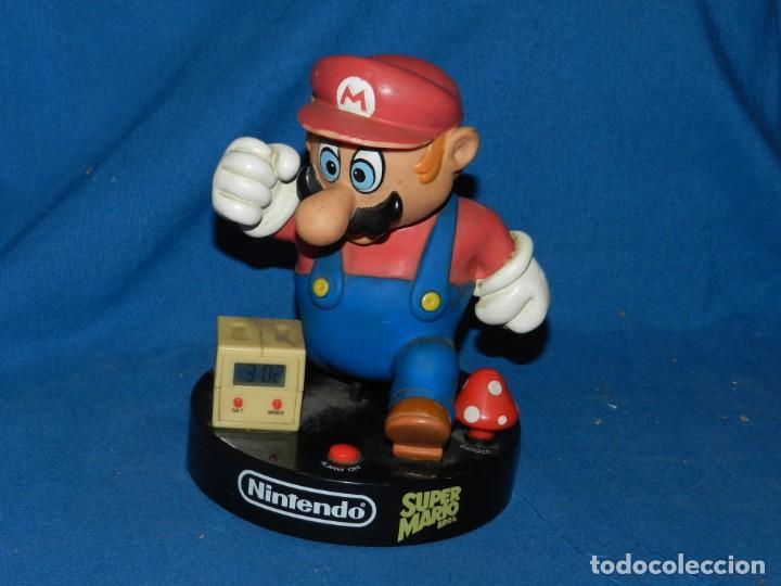 (M) RELOJ SUPER MARIO BROS. TM & NINTENDO, FUNCIONA, FALTA LA TAPA DE LAS PILAS (Juguetes - Videojuegos y Consolas - Nintendo - SuperNintendo)