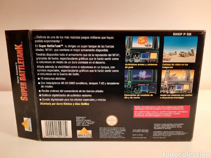 Videojuegos y Consolas: Super Battletank SUPER NINTENDO SNES - Foto 7 - 175597032