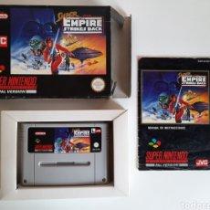 Videojuegos y Consolas: STAR WARS EMPIRE STRIKES BACK COMPLETO SUPER NINTENDO SNES. Lote 207157882