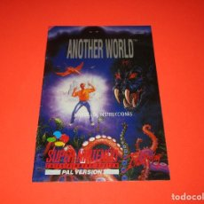 Videojuegos y Consolas: MANUAL DE INSTRUCCIONES ANOTHER WORLD - SUPER NINTENDO - SUPERNINTENDO - SUPER NES - PAL VERSION. Lote 207288747