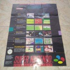 Videojuegos y Consolas: POSTER SUPER NINTENDO SNES E INSTRUCCIONES TAMAÑO GRANDE. Lote 208283906