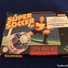 Videojuegos y Consolas: SUPER SOCCER SUPER NINTENDO PAL ESPAÑA. Lote 208984450