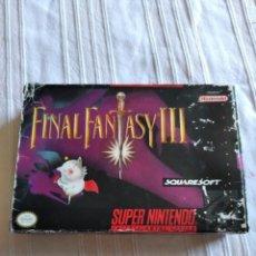 Videojuegos y Consolas: FINAL FANTASY III SUPER NINTENDO. Lote 209336913