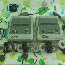 Videojogos e Consolas: LOTE DOS VIDEO CONSOLAS SUPER NINTENDO PAL VERSION 4 MANDOS PISTOLA UN TRANSFORMADOR UN CONECTOR TV. Lote 210830451