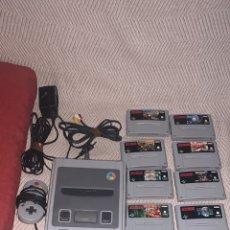 Videojuegos y Consolas: SÚPER NINTENDO MAS 8 JUEGOS PAL ESPAÑA ESCUCHO OFERTAS. Lote 211433052