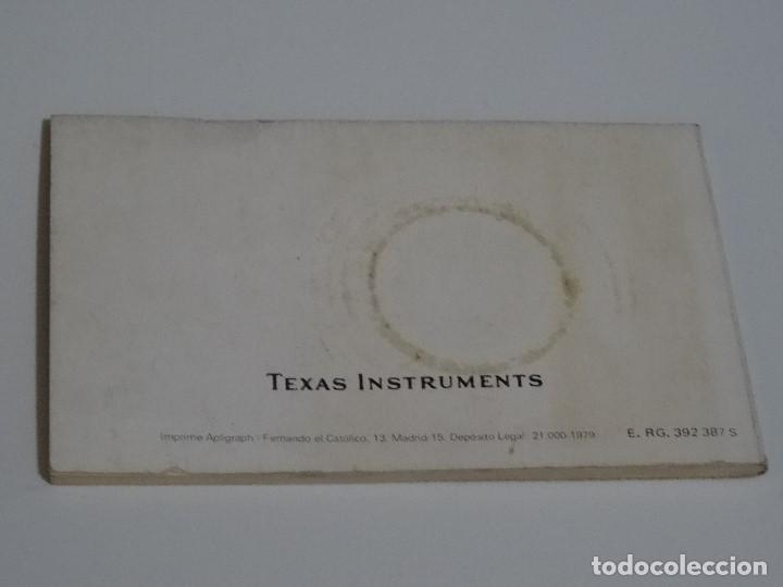 Videojuegos y Consolas: CALCULADORA Manual Original TEXAS INSTRUMENTS Programable TI - 58 58c 59 AYUDA MEMORIA TI-58 - Foto 2 - 211509059