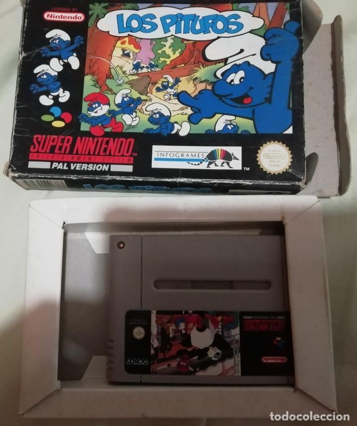 JUEGO LOS PITUFOS PARA SUPERNINTENDO NES EN CAJA ORIGINAL (Juguetes - Videojuegos y Consolas - Nintendo - SuperNintendo)