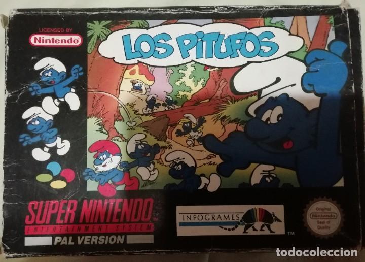 Videojuegos y Consolas: Juego los pitufos para supernintendo nes en caja original - Foto 2 - 212380375