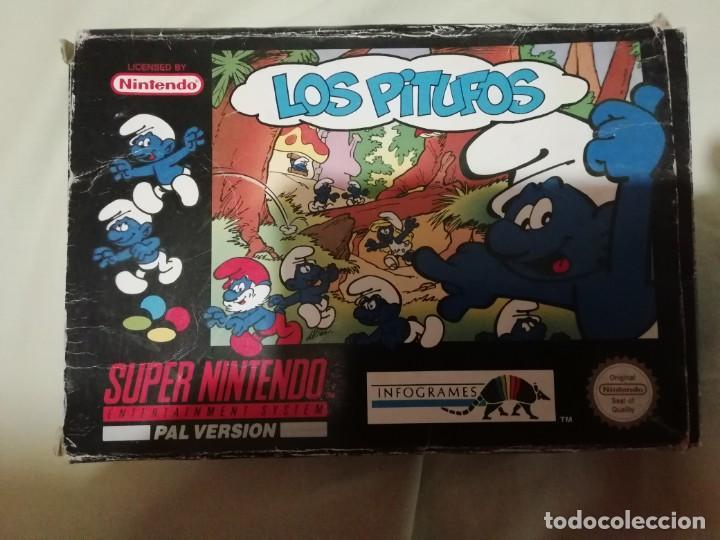Videojuegos y Consolas: Juego los pitufos para supernintendo nes en caja original - Foto 3 - 212380375