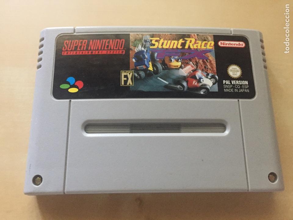 STUNT RACE FX - PAL ESPAÑA - SUPER NINTENDO - CARTUCHO (Juguetes - Videojuegos y Consolas - Nintendo - SuperNintendo)