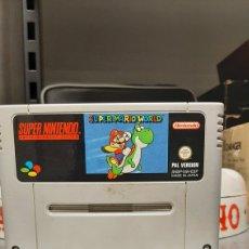 Videojuegos y Consolas: SUPER MARIO WORLD SUPER NINTENDO SNES SOLO CARTUCHO. Lote 215410050