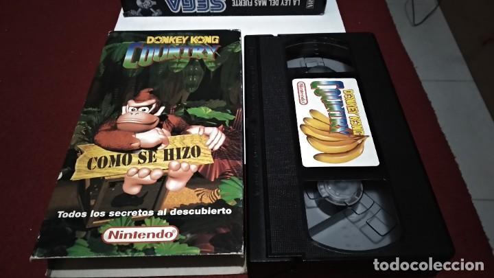VHS NINTENDO COMO SE HIZO DONKEY KONG COUNTRY - SUPER NINTENDO SNES 1994 (Juguetes - Videojuegos y Consolas - Nintendo - SuperNintendo)