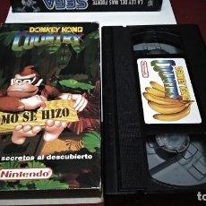 Videojuegos y Consolas: VHS NINTENDO COMO SE HIZO DONKEY KONG COUNTRY - SUPER NINTENDO SNES 1994. Lote 215681790