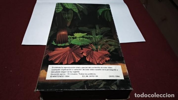 Videojuegos y Consolas: VHS NINTENDO COMO SE HIZO DONKEY KONG COUNTRY - SUPER NINTENDO SNES 1994 - Foto 3 - 215681790