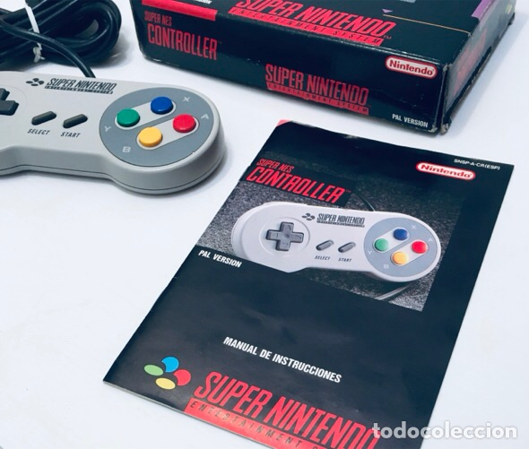 Videojuegos y Consolas: Mando Controlador Controller [SuperNintendo SNES Super NES] 1992 [PAL] SNSP-A-CR(ESP) - Foto 6 - 216496165