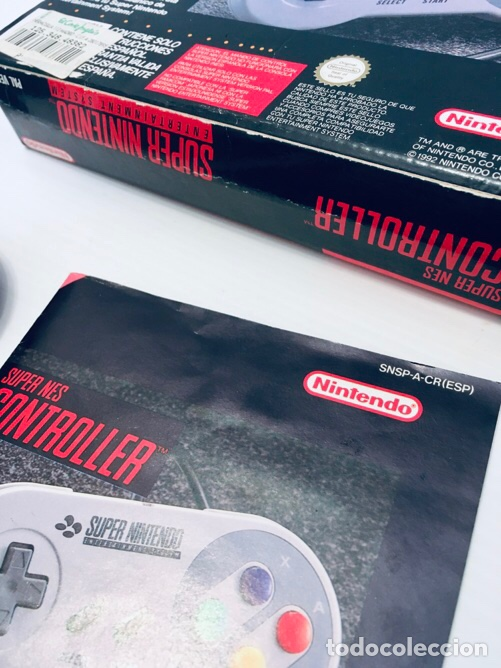 Videojuegos y Consolas: Mando Controlador Controller [SuperNintendo SNES Super NES] 1992 [PAL] SNSP-A-CR(ESP) - Foto 8 - 216496165