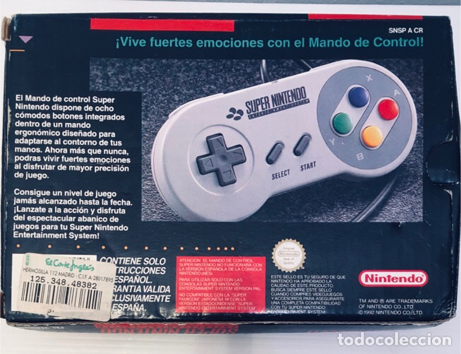 Videojuegos y Consolas: Mando Controlador Controller [SuperNintendo SNES Super NES] 1992 [PAL] SNSP-A-CR(ESP) - Foto 9 - 216496165