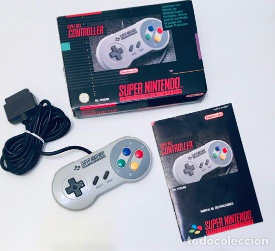 Videojuegos y Consolas: Mando Controlador Controller [SuperNintendo SNES Super NES] 1992 [PAL] SNSP-A-CR(ESP) - Foto 3 - 216496165