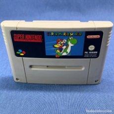 Jeux Vidéo et Consoles: VIDEOJUEGO NINTENDO - SUPER NINTENDO - SUPER MARIO WORLD - SOLO CARTUCHO. Lote 217204990
