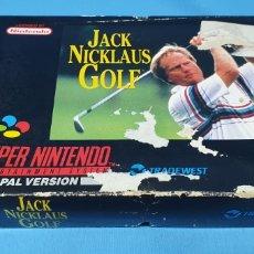 Videojuegos y Consolas: JUEGO SUPERNINTENDO - JACK NICKLAUS - GOLF - NINTENDO. Lote 217893826