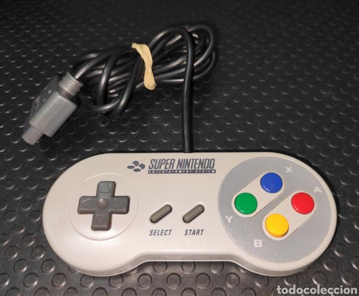 MANDO ORIGINAL CONSOLA SUPER NINTENDO SNES EN BUEN ESTADO (Juguetes - Videojuegos y Consolas - Nintendo - SuperNintendo)