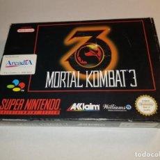 Videojuegos y Consolas: MORTAL KOMBAT 3 PAL ESPAÑA RARO ARCADIA SNES SUPER NINTENDO MEGADRIVE MEGA DRIVE SEGA SUPERNINTENDO. Lote 218098953