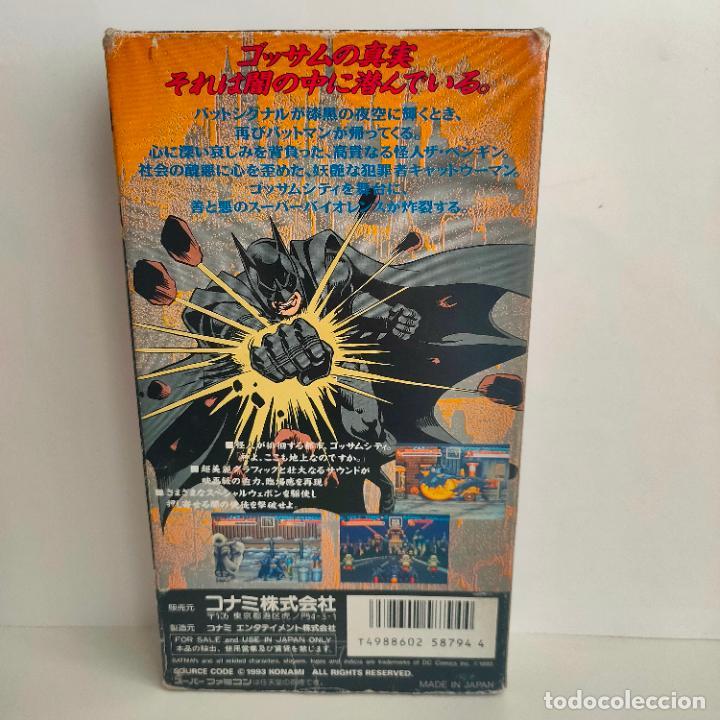 Videojuegos y Consolas: Cartucho de Nintendo Batman Returns. Konami. Made in Japan. Super Famicon. - Foto 2 - 218726915