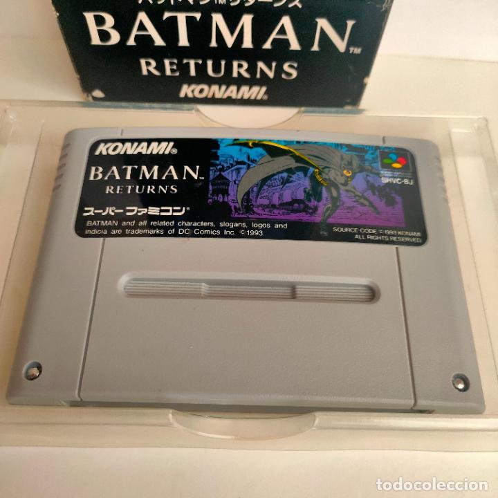 Videojuegos y Consolas: Cartucho de Nintendo Batman Returns. Konami. Made in Japan. Super Famicon. - Foto 3 - 218726915
