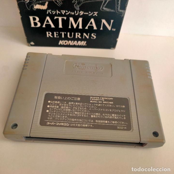 Videojuegos y Consolas: Cartucho de Nintendo Batman Returns. Konami. Made in Japan. Super Famicon. - Foto 4 - 218726915