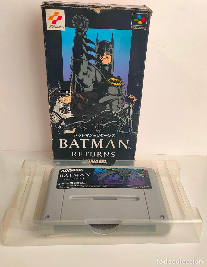CARTUCHO DE NINTENDO BATMAN RETURNS. KONAMI. MADE IN JAPAN. SUPER FAMICON. (Juguetes - Videojuegos y Consolas - Nintendo - SuperNintendo)