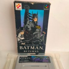 Videojuegos y Consolas: CARTUCHO DE NINTENDO BATMAN RETURNS. KONAMI. MADE IN JAPAN. SUPER FAMICON.. Lote 218726915